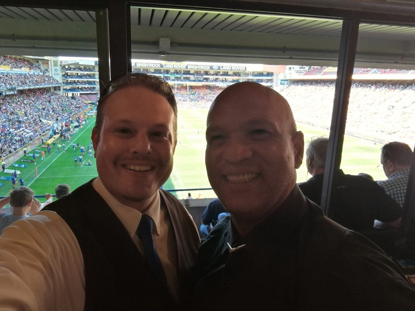 Cape Town Magic Club magicians, Marcel Oudejans & Andrew 'Magic Man' Eland, performed in the commercial suites at DHL Newlands on 17 March 2018