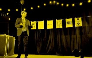 Greg Gelb performs at this year's National Arts Festival in Grahamstown