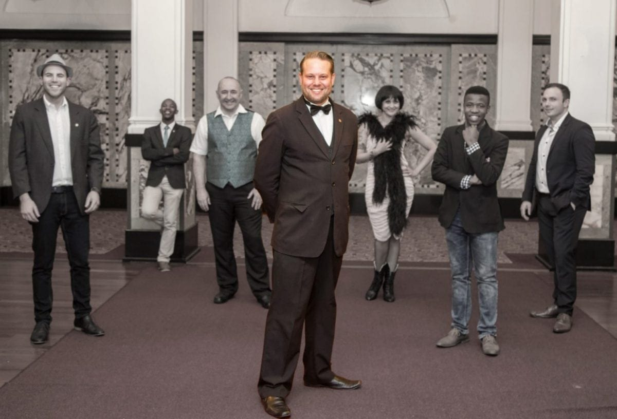 Marcel Oudejans, Executive Producer of Magic Africa Productions & Founder of Cape Town Magic Club, at the opening of Monday Night Magic season 6. [Photo credit: Andrew Gorman]