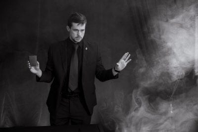 Mentalist & magician Brendon Peel consistently surprises audiences with his remarkable mental abilities. | Photo credit: Andrew Gorman