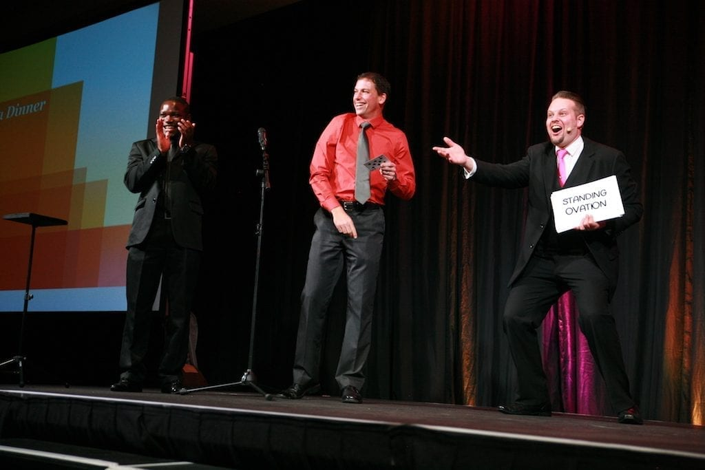 Professional entertainers, like Corporate Magician Marcel Oudejans, can help make your guests the 'stars of the show'.