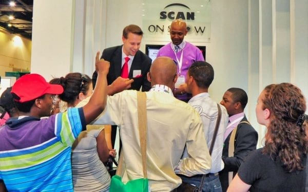 Magic is an effective way to captivate an audience & convey a message, as shown here at Meetings Africa