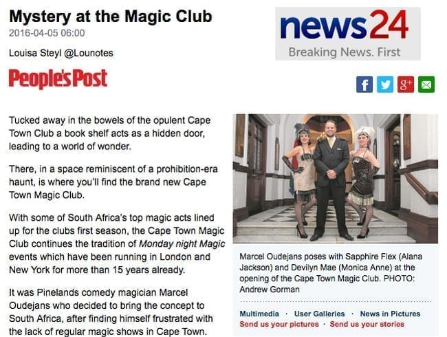 Mystery at the Magic Club - News24