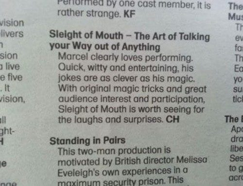 'Sleight of Mouth' review – Cue – National Arts Festival 2013
