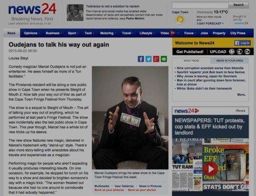 "News24.com : ""Oudejans to talk his way out again"""