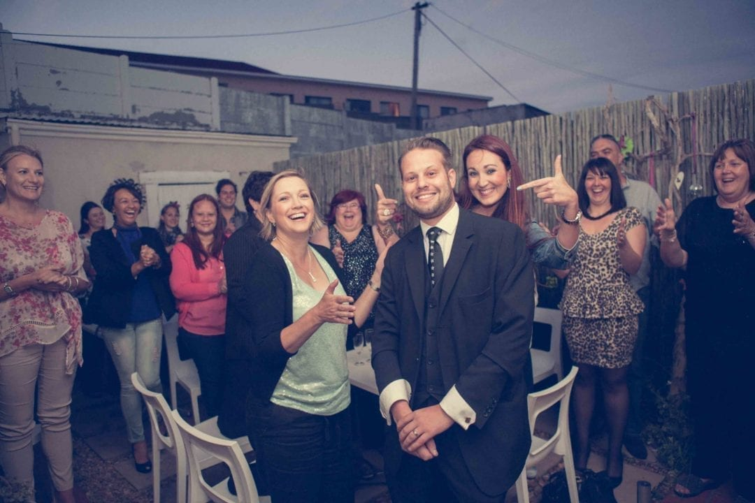 Cape Town magician Marcel Oudejans delights guests at a private party
