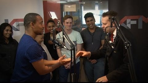 Magician Marcel Oudejans performs LIVE on KFM radio in Cape Town