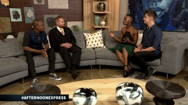 Marcel Oudejans & Mawonga Gayiya appear on SABC3's Afternoon Express television programme (vide)