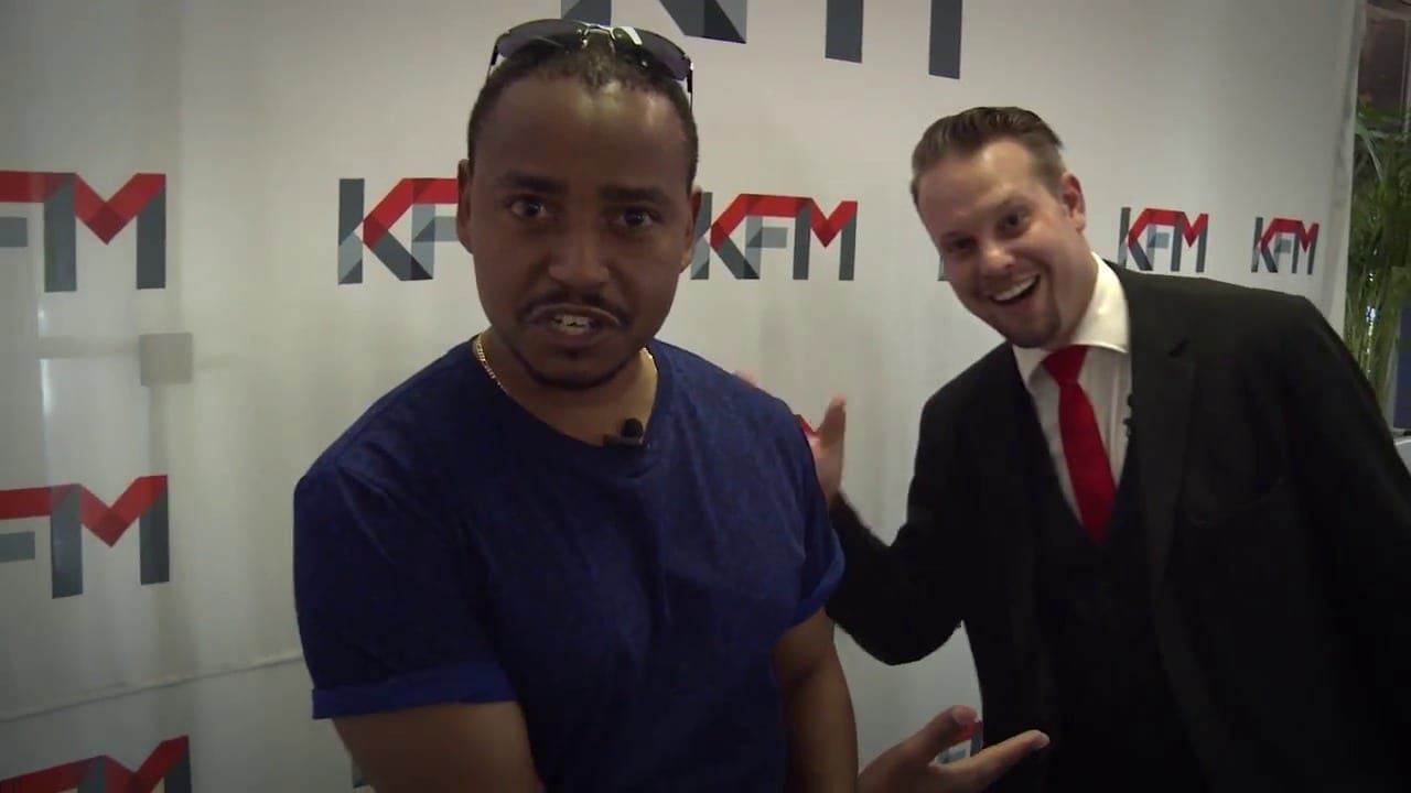 Magician Marcel Oudejans at the KFM office
