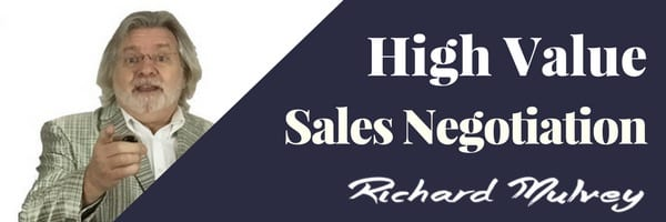 High Value Sales Negotiation with Richard Mulvey In House training